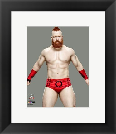 Framed Sheamus 2016 Posed Print