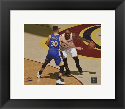 Framed Stephen Curry & Lebron James Game 3 of the 2016 NBA Finals Print