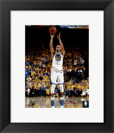 Framed Stephen Curry Game 1 of the 2016 NBA Finals Print