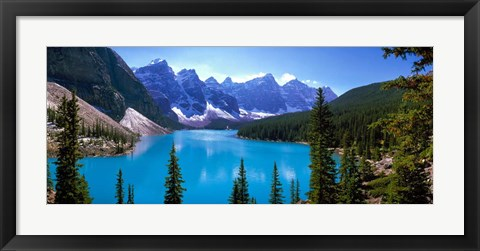 Framed Moraine Lake, Banff National Park, Alberta, Canada Print
