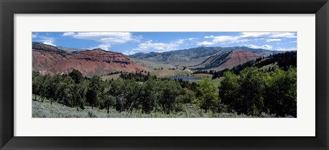 Framed Trees on Red Hills, Bridger Teton National Forest, Wyoming Print