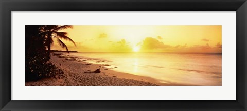 Framed Sint Maarten Sunset, Netherlands Antilles Print