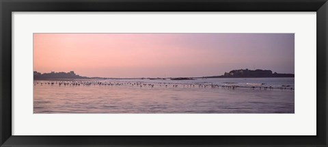 Framed Fort Bloque Beach, Brittany, France Print