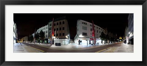 Framed 360 Degree View of Fountain Lane, Belfast, Northern Ireland Print