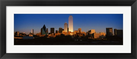Framed Dallas at Dusk Print