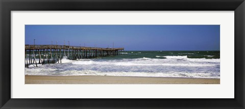 Framed Avalon Fishing Pier, Outer Banks, North Carolina Print