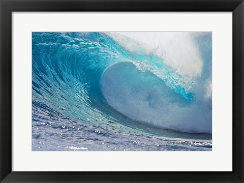Framed Tahitian Waves III Print