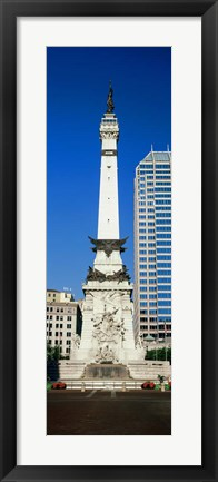 Framed Soldiers' and Sailors' Monument, Indianapolis, Indiana Print