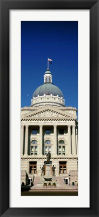 Framed Indiana State Capitol Building, Indianapolis, Indiana Print