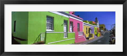 Framed Colorful Houses, Cape Town, South Africa Print