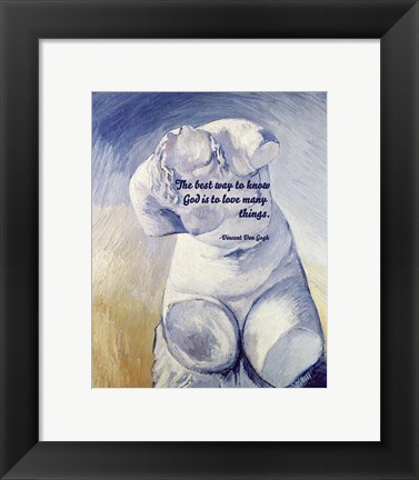 Framed Know God - Van Gogh Quote 2 Print