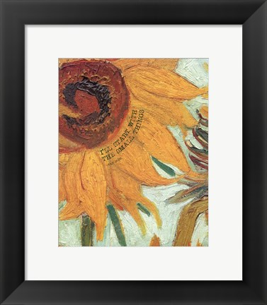 Framed Small Things - Van Gogh Quote 2 Print