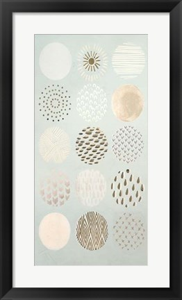 Framed Playful Patterns II - Metallic Foil Print