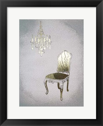 Framed Gilded Furniture I - Metallic Foil Print