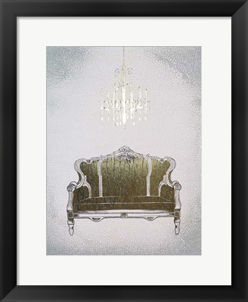 Framed Gilded Furniture III - Metallic Foil Print