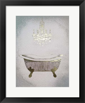 Framed Gilded Bath II - Metallic Foil Print