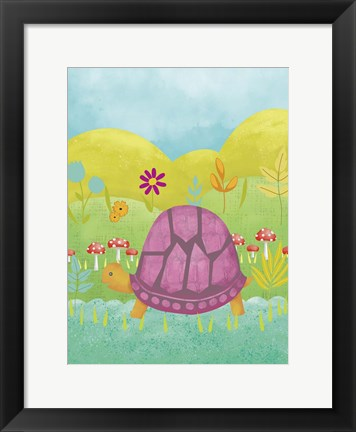 Framed Happy Turtle II Print