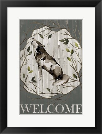 Framed Woodland Welcome II Print