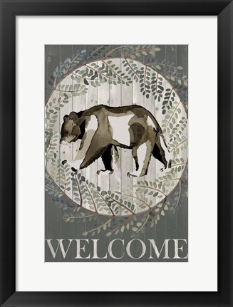 Framed Woodland Welcome III Print