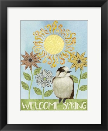 Framed Spring Welcome I Print