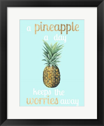 Framed Pineapple Life I Print
