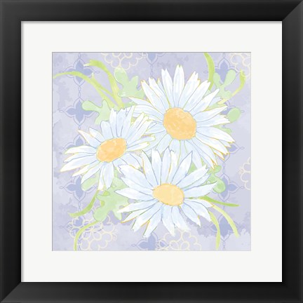 Framed Daisy Patch Serenity II Print