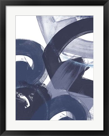 Framed Blue on Blue II Print