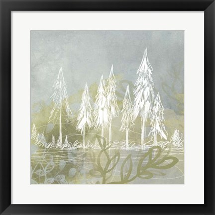 Framed Treeline Collage II Print