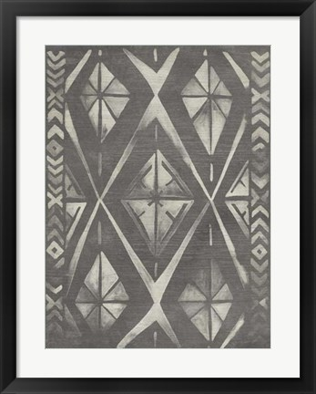 Framed Mudcloth Patterns I Print