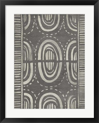 Framed Mudcloth Patterns II Print