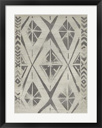 Framed Mudcloth Patterns V Print