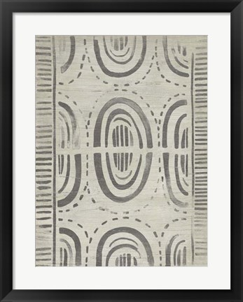 Framed Mudcloth Patterns VI Print