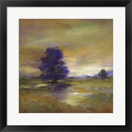 Framed Purple Tree Print