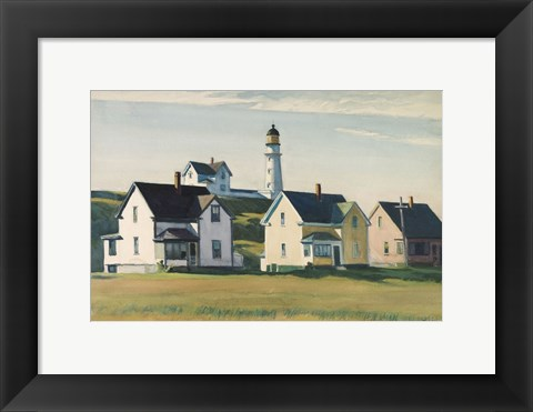 Framed Lighthouse Village (also known as Cape Elizabeth), 1929 Print