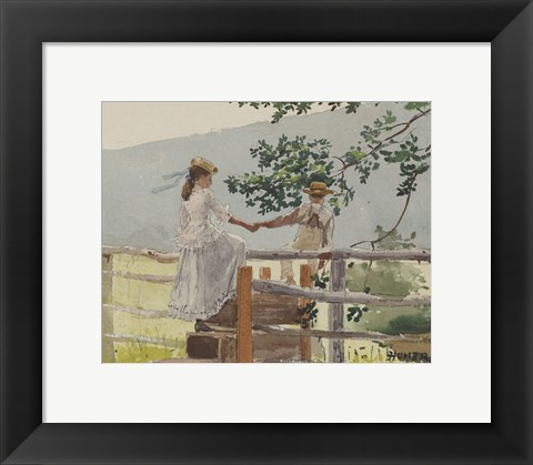 Framed On the Stile, 1878 Print