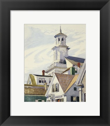 Framed Methodist Church Tower, 1930 Print