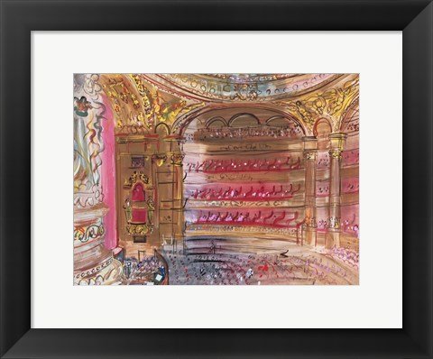 Framed Opera, Paris, early 1930's Print