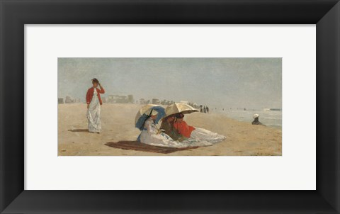 Framed East Hampton Beach, Long Island, 1874 Print