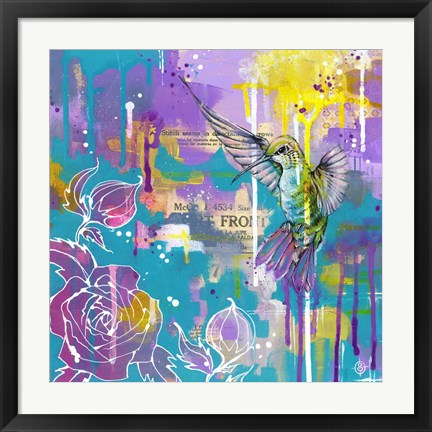 Framed Hummingbird's Folly Print