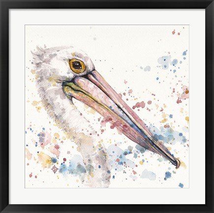 Framed Pelicans About Print