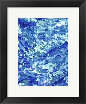 Framed Colliding Waves Print
