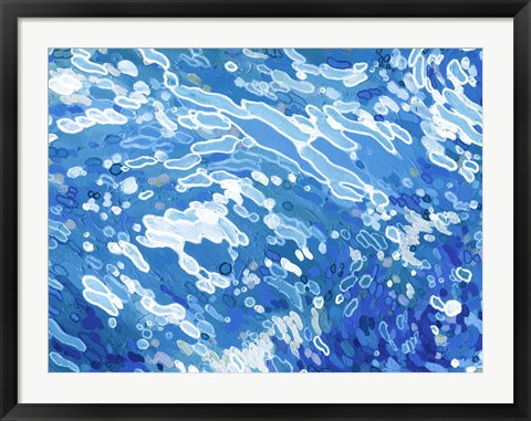 Framed Swirling Tide Print