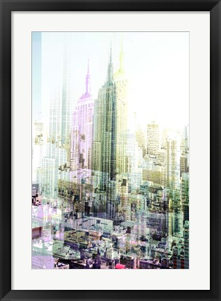 Framed Empire State Building Multiexposure I Print