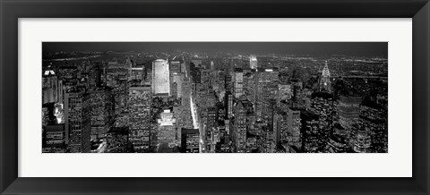 Framed Midtown Manhattan at Night Print