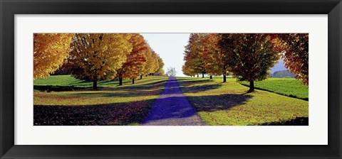 Framed Autumn Road, Storm King Mountain, New York Print