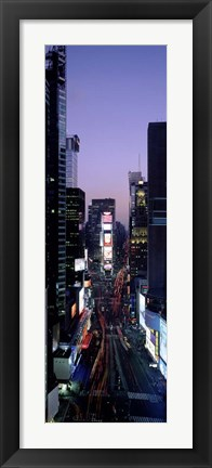 Framed Times Square at Night Print