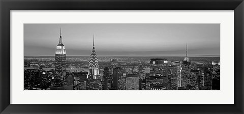 Framed Midtown Manhattan at Sunset, NYC Print