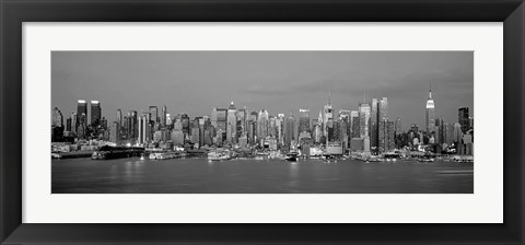 Framed Manhattan Skyline, NYC Print