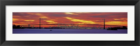 Framed Queensboro and Manhattan Bridge, New York City Print