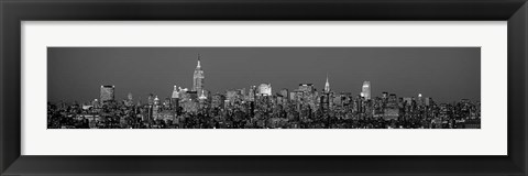 Framed Manhattan Skyline Print